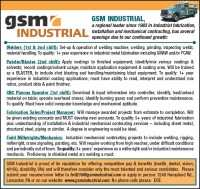 We're hiring at GSM Industrial