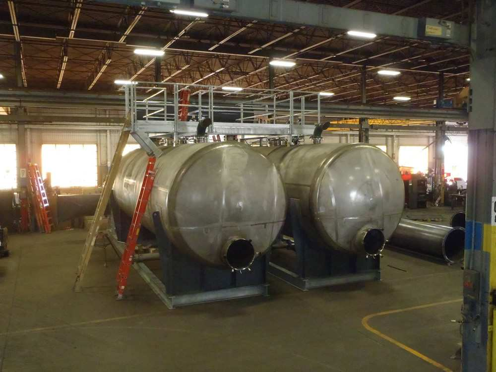 Adsorber Tanks With Safety Platform Installed