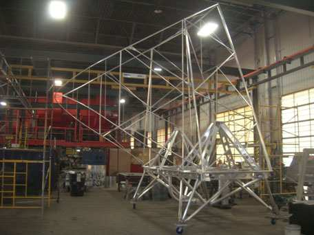 Aluminum Blast Gondola for University Science Project