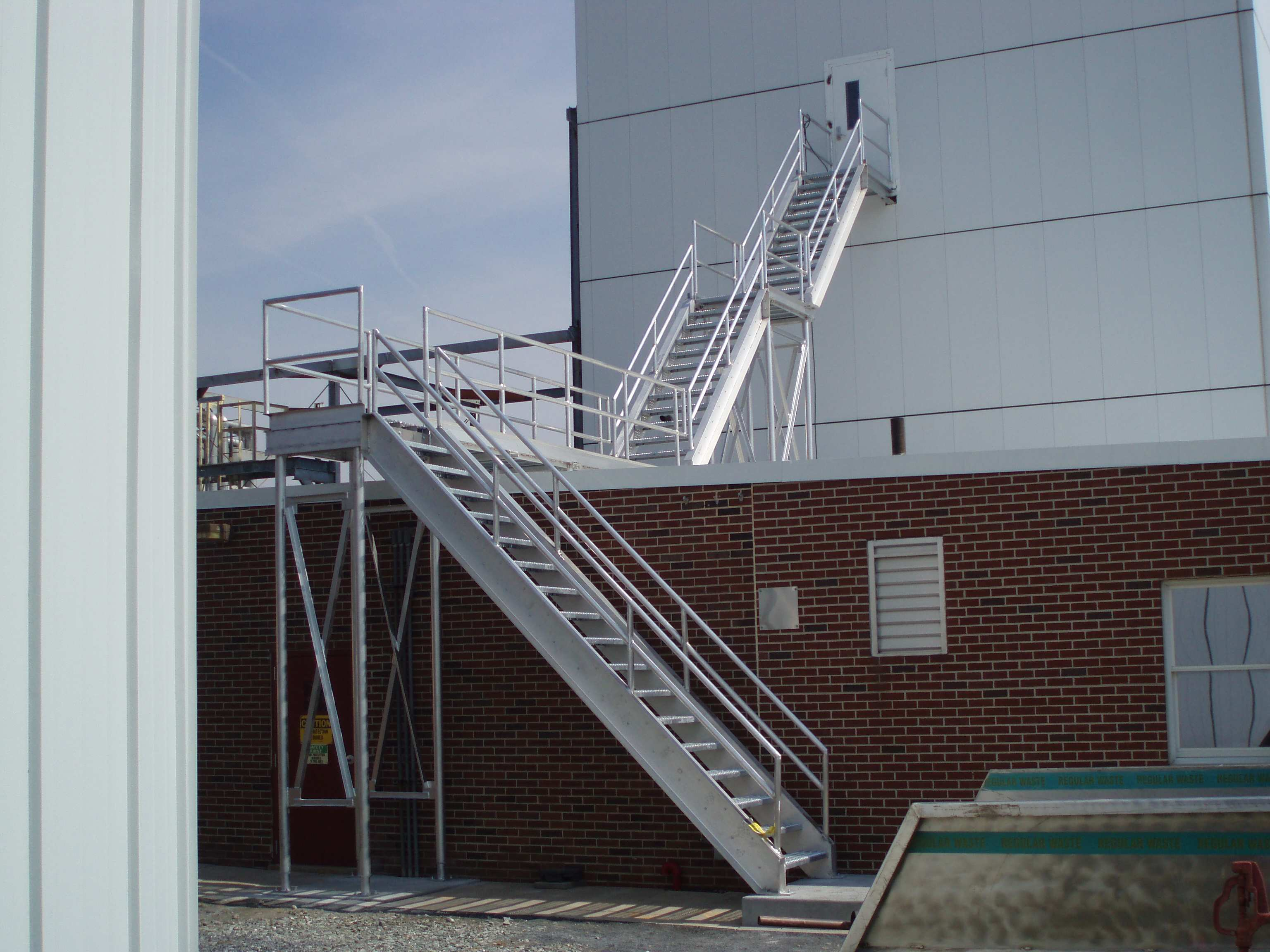 Two Story Aluminum Stairway with Platform
