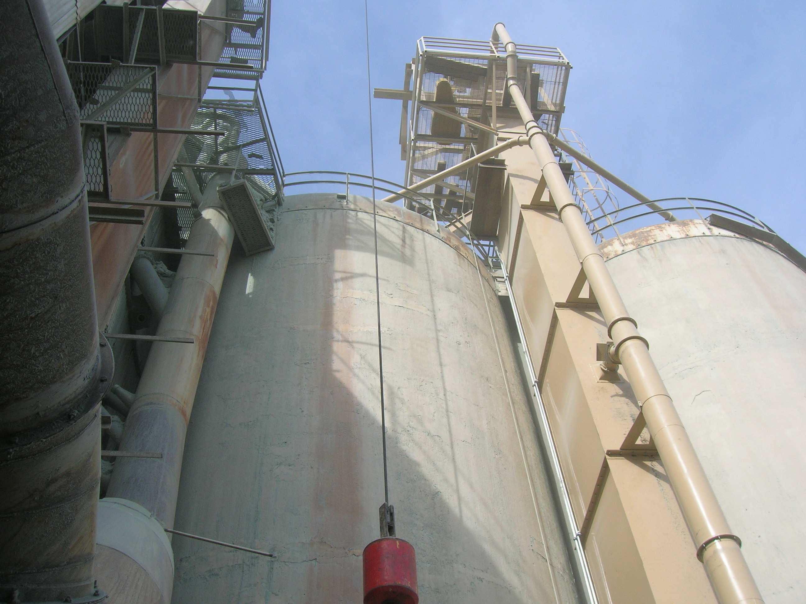 Bucket Elevator Installed on Silos