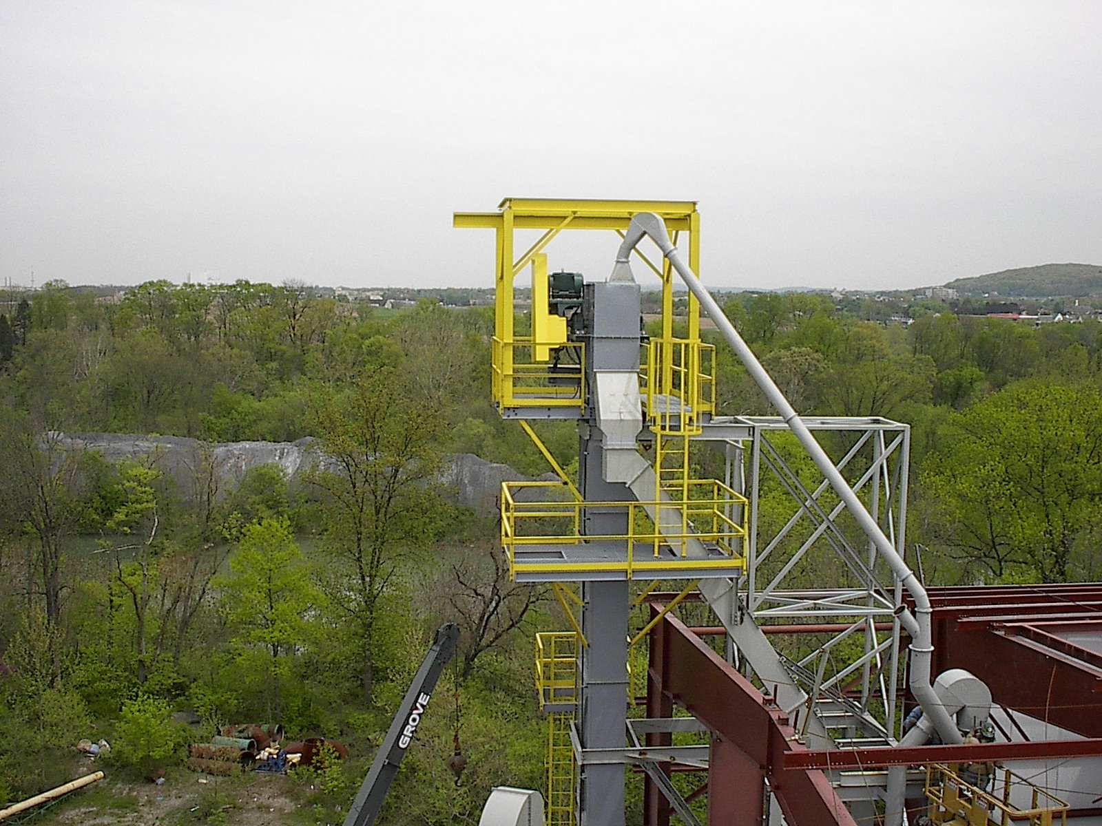 Bucket Elevator with Platforms