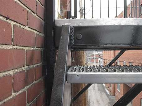 Fire Escape with Non-Slip Tread
