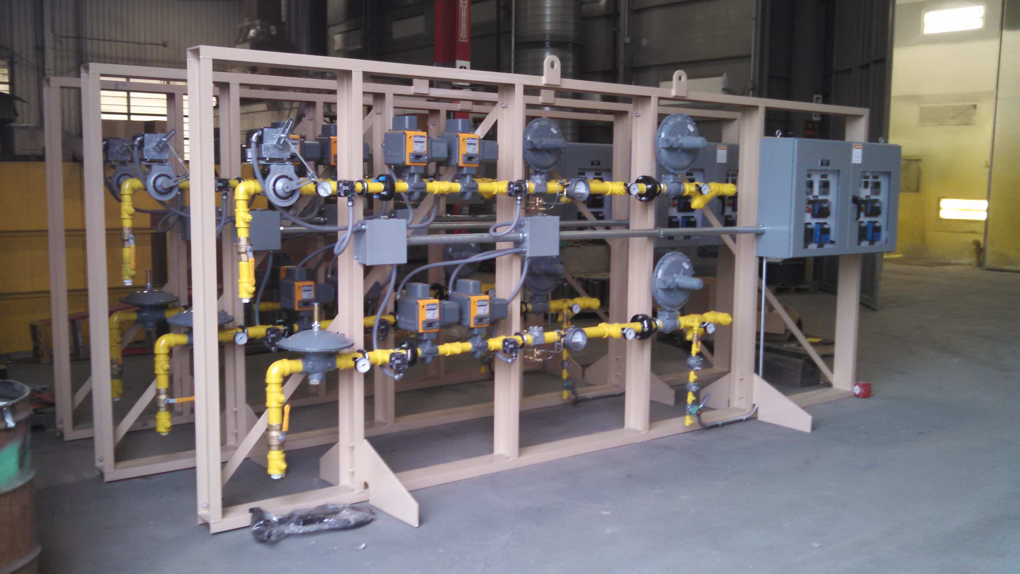 Gas Piping Assemblies for Furnace System