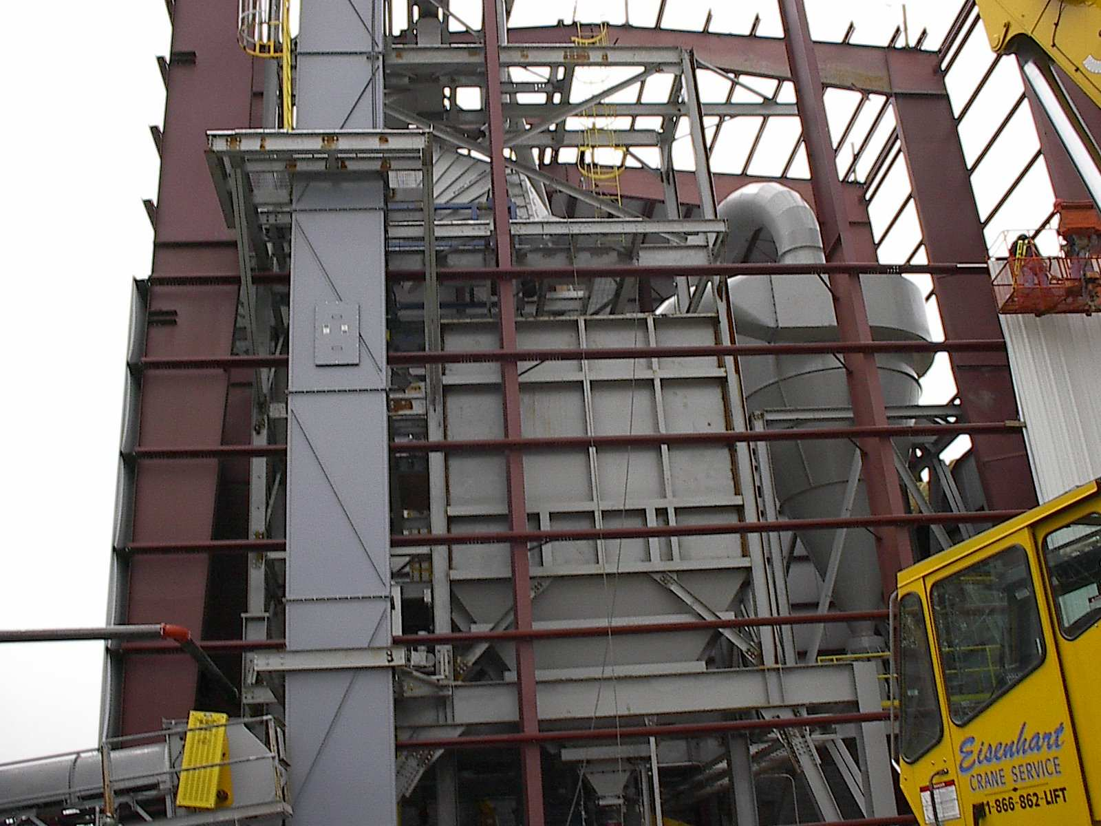 Install of Bucket Elevator, Bin, Cyclone