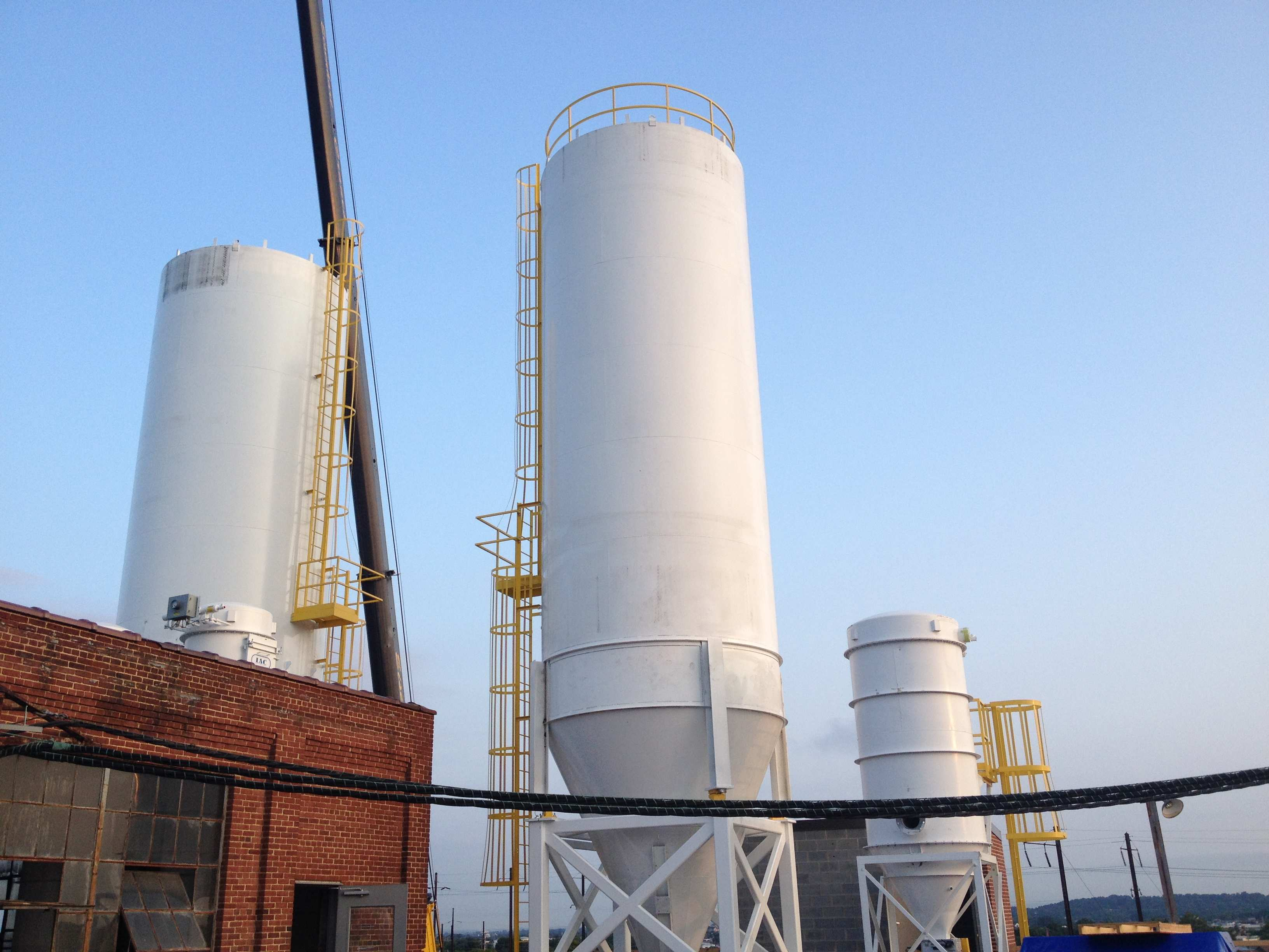 Rooftop Silo Installation