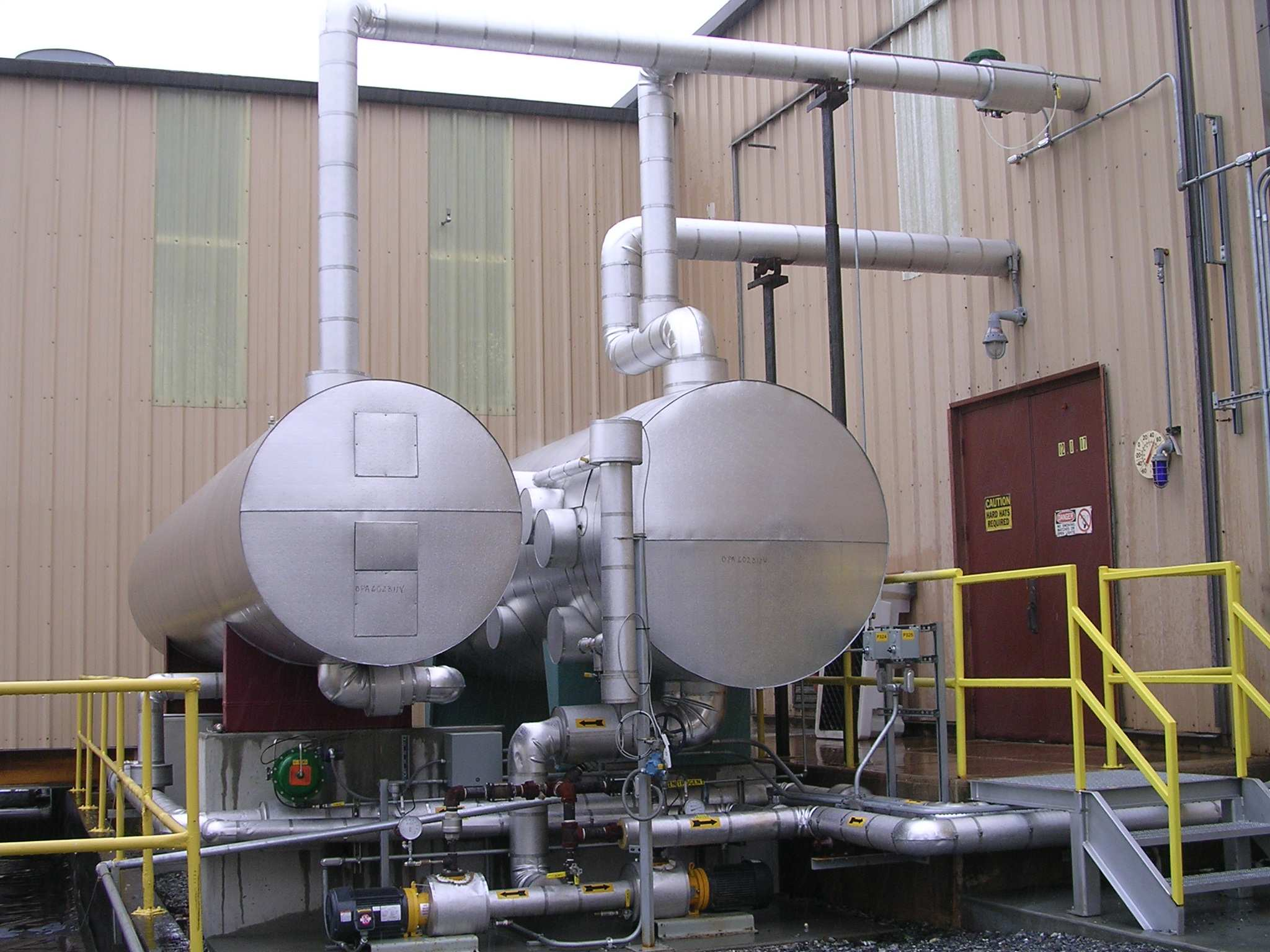 Piping and Equipment for Steam Processing