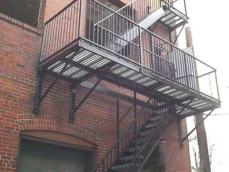 Two-Story Commercial Fire Escape