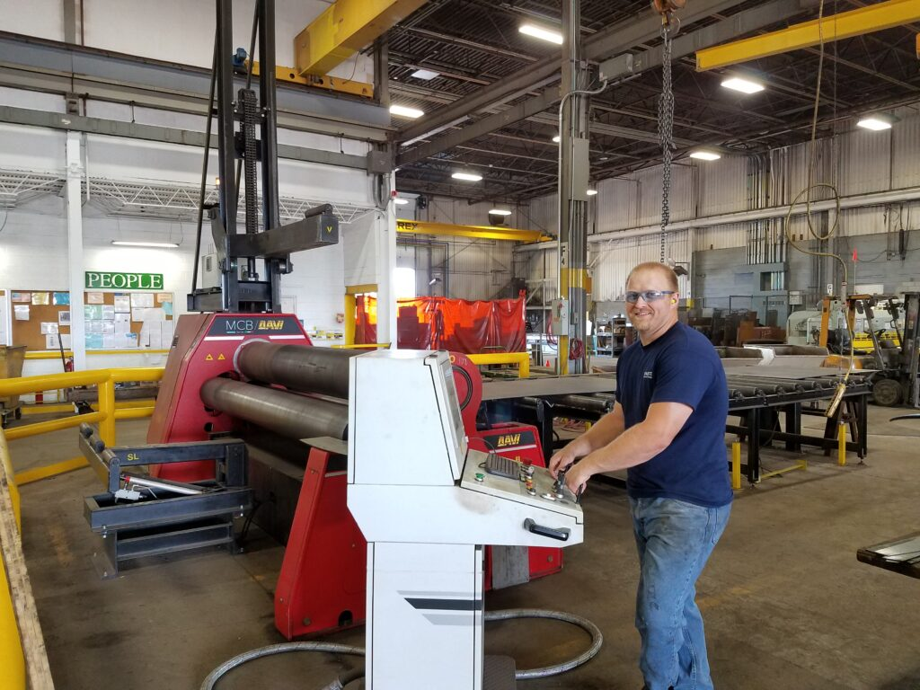 Hunter Mayfield inside GSM Industrial Shop