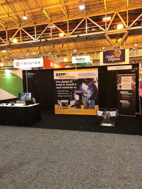GSM Industrial's booth at the PowerGen 2019 trade show